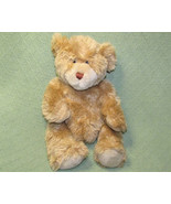 "VINTAGE BUILD A BEAR CLASSIC TEDDY BEAR STUFFED ANIMAL 14"" FURRY TAN PLU... - $13.66"