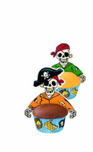 Pirate Cupcake Wraps Liners 12 pk Birthday Part... - $11.72