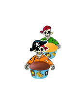 Pirate Cupcake Wraps Liners 12 pk Birthday Party Cakes Wilton Baking Sup... - $11.72