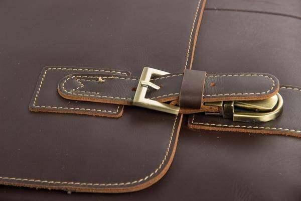 Sale, Vintage Leather Messenger Bag, Men's Leather Briefcase image 5