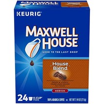 Maxwell House Medium House Blend Coffee K-Cup Pods, 24 Count, 7.44 Ounce - $24.36