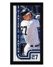 "Giancarlo Stanton New York Yankees - 6.75"" x 13"" Miniframed Photo Montage - $38.95"