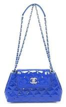 Auth CHANEL Shoulder Bag Blue Matelasse Flap Logo Quilted Medium Pouch B... - $2,542.32