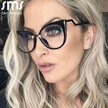 Ladies Optical Sexy Cat Eye Glasses Frames Women Brand Designer Eyeglasses Fashi image 1