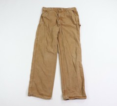 Vtg 80s Carhartt Mens 36x34 Spell Out Patch Distressed Canvas Pants Jean... - $49.45