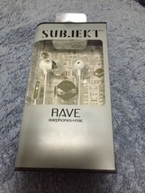 Rave Earphones RAV-8852 Subjekt-Unique angle earbuds WHITE 3.5mm jack -IN EAR