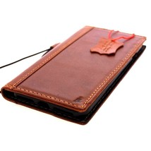 Genuine Natural leather Case for iPhone 7 wallet cover classic holder rope book - $39.99