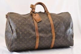 LOUIS VUITTON Monogram Keepall Bandouliere 60 Boston Bag M41412 Auth 6562 - $398.00