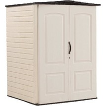 Medium Storage Shed Vertical Heavy-Duty Plastic 2 Doors Garden Long Tool... - $875.89