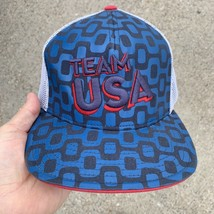Team USA snap back Hat by Team USA apparel Mesh Back Flat Bill Red White... - $29.69