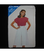 Butterick See & Sew 5038 Loose Fit Top with Bateau Neck and Culottes Mis... - $1.99