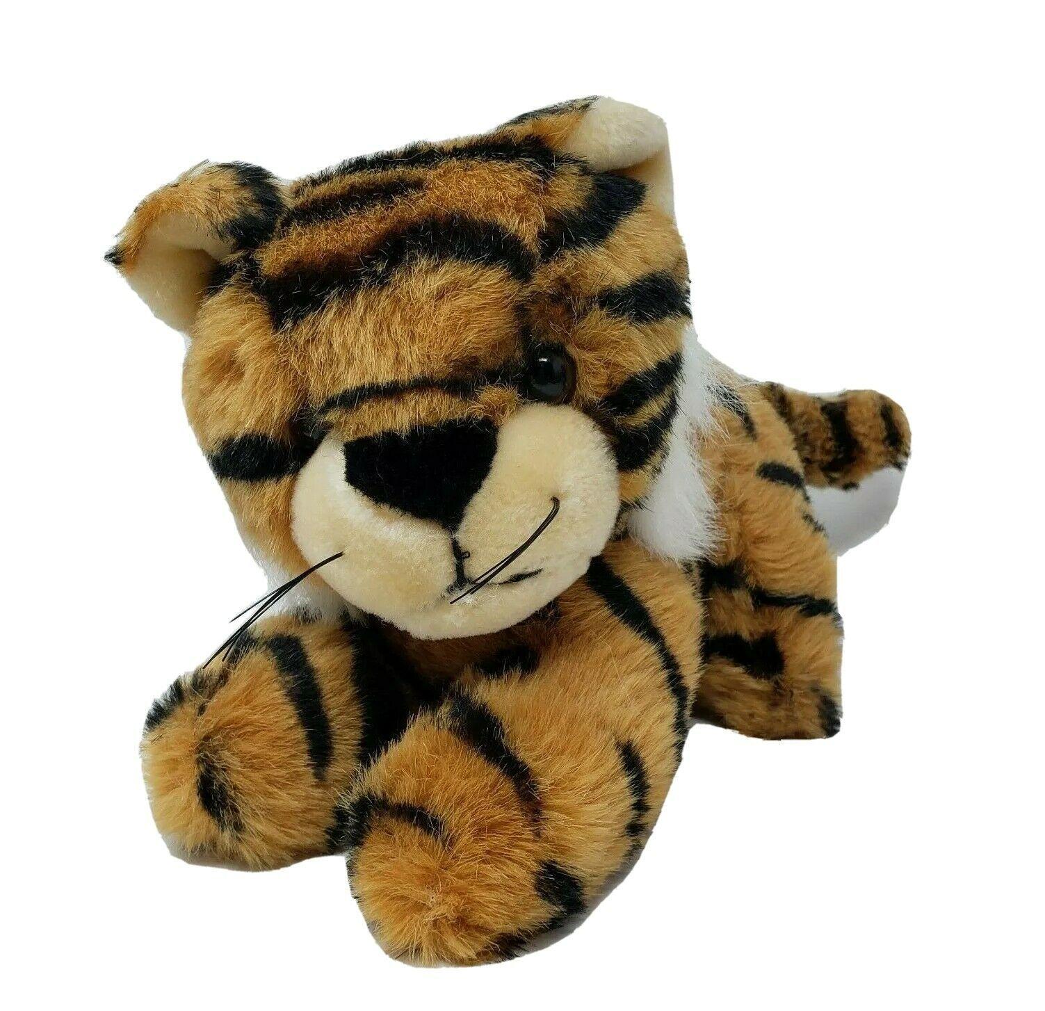 VINTAGE 1989 FIESTA BLACK & ORANGE STRIPED BABY TIGER STUFFED ANIMAL PLUSH TOY - $36.47