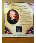 Thomas Jefferson United States Presidents Coin Postal Commemorative Society - $8.09