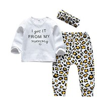 3Pcs Baby Girl Outfits Set Long Sleeve (12-18 Months|I Got It from My Mo... - $30.81