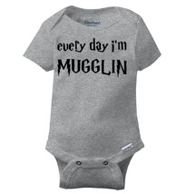 Every Day Muggle Funny Shirt Cool Gift Wizard Gerber Onesies - $6.99+
