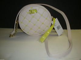 New Betsey Johnson Luv Crossbody Canteen Bag Purse Handbag Quilt Cream Hearts - $39.59