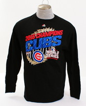 Majestic MLB Chicago Cubs Black 2016 National League Champions T Tee Shi... - $18.74