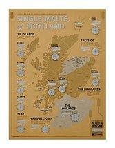 Single Malts of Scotland: Scotch Tasting Map [Map] 33 Books Co - $24.37