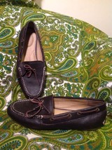 Women's Lands End 400673 Brown Pebbled 6.5B Loafers Flats Driving Mocc ASIN S - $24.74