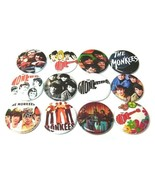 "12 THE MONKEES - ONE Inch Buttons 1"" Badges Retro 60s 70s TV POP Band Davy Micky - £6.27 GBP"