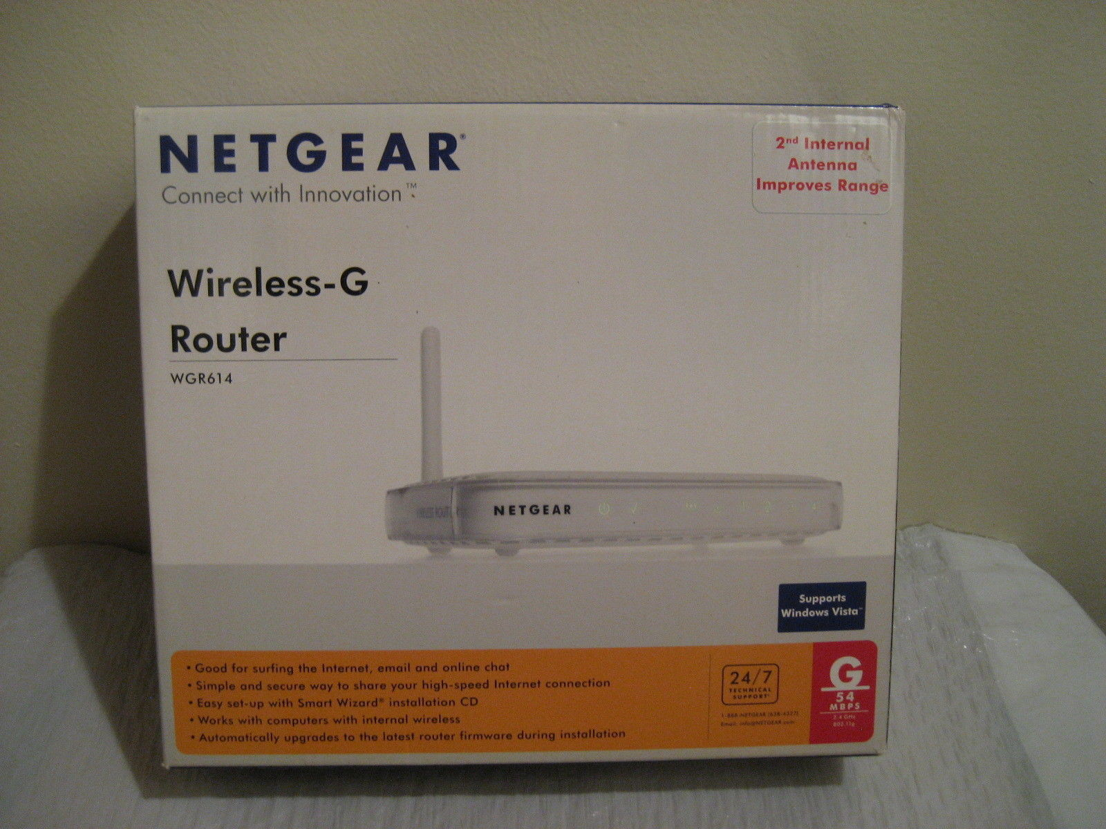 NETGEAR wireless-g router 54mbps #wgr614 and 49 similar items