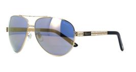 Chopard Sunglasses New Aviator Gold Bling Blue Mirror SCH B24S 301G 63 1... - $197.99