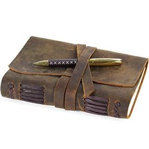 Leather Journal Travel Diary, Handmade Vintage Writing Bound Notebook Fo... - $37.01