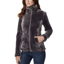 32 Degrees Ladies' Shadow Gray Soft Plush Heat Faux Fur Jacket size M Medium image 2