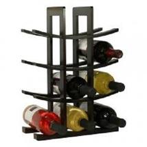 12-Bottle Dark Espresso Bamboo Wine Rack  - $23.95