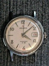 Vintage HELBROS Hand Winding Watch Not Working Parts or Repair - $49.00