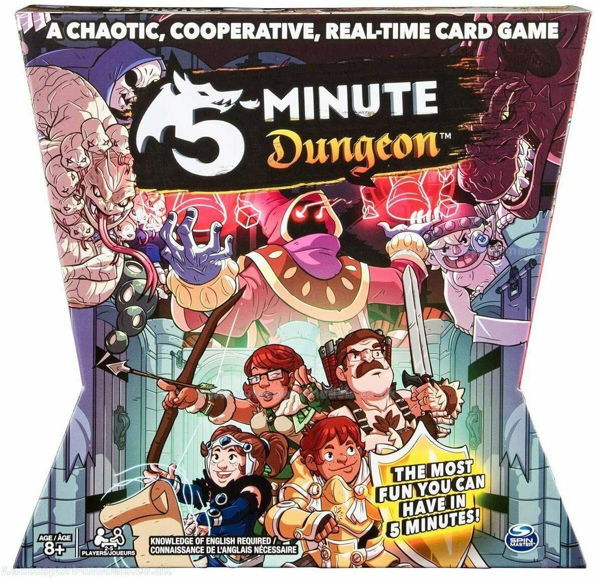 Spin Master Games 5 - Minute Dungeon Fun Card Game for Kids and Adults Sealed - $24.20
