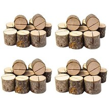 Senover Rustic Wood Table Numbers Holder Wood Place Card Holder Party We... - $24.33