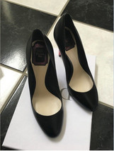 NIB 100% AUTH Christian Dior Sublime Black Leather Round Toe Heels Pumps Sz 36 - $395.01