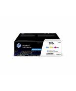 HP 202X | CF501X, CF502X, CF503X | 3 Toner Cartridges | Cyan, Magenta, Y... - $500.20
