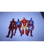 "Ironman Spiderman Captain America Lot of 4 10"" Action Figure Marvel - $27.78"