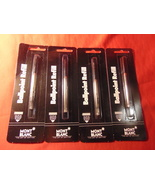 4 Single Packs, Mont Blanc Ballpoint Refills, Sealed Mont Blanc Packages. - $14.99
