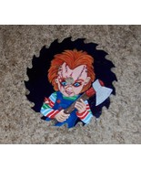 """Saw Blade Halloween Metal Art CHUCKy DOLL HAND PAINTED 7"""" GIFT OOAK COME... - $34.64"""