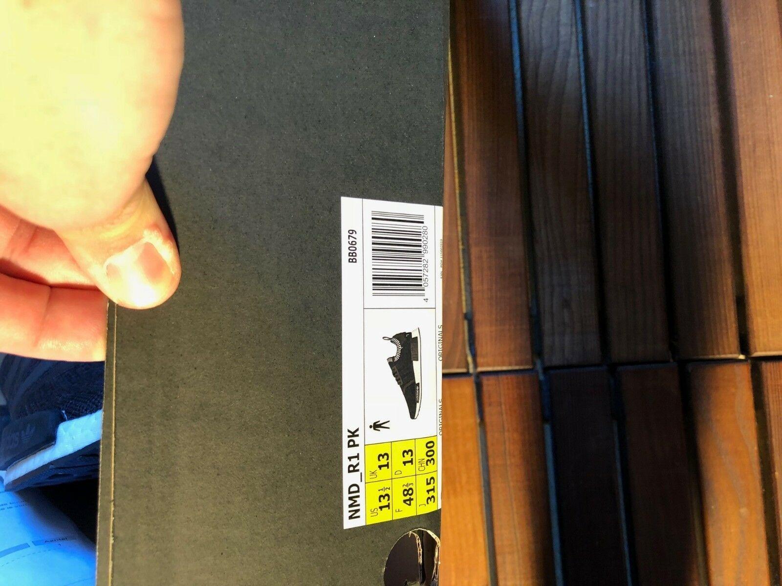 Adidas Black Primeknit Wool Runner Size 48 2/3 New image 3