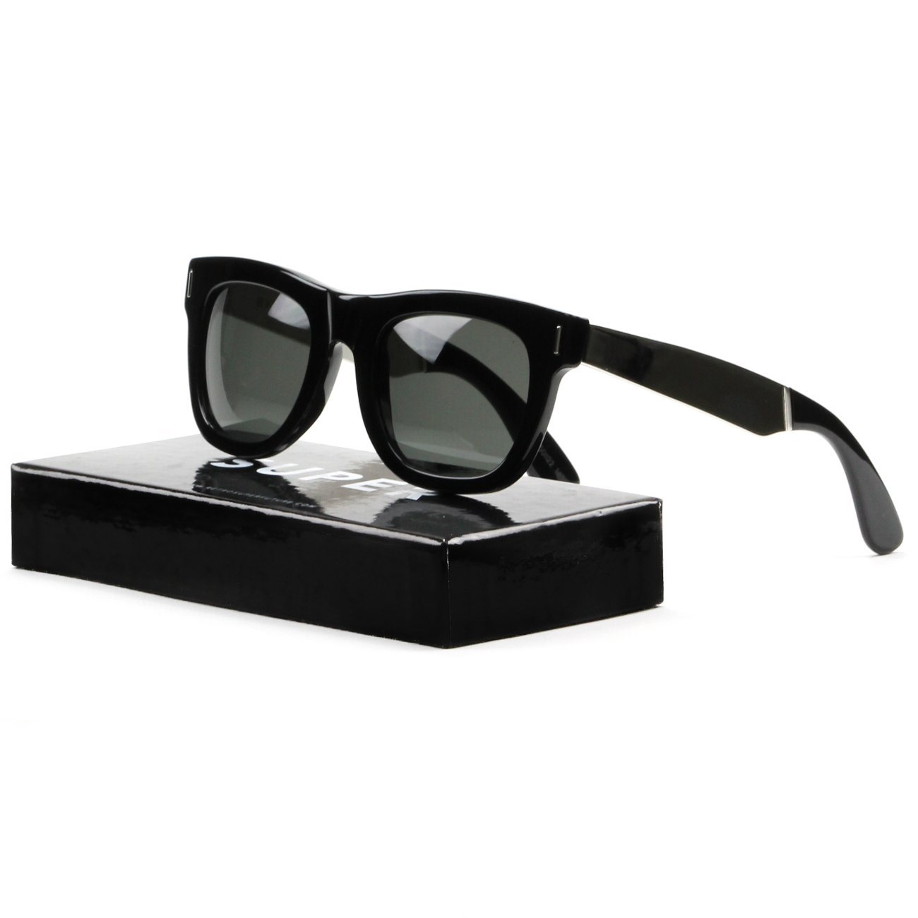 Super Ciccio 767 Sunglasses Silver Francis Black w/ Zeiss Lens RETROSUPERFUTURE