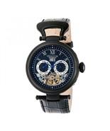 Heritor Automatic Ganzi Semi-Skeleton Leather-Band Watch - Black - $895.00
