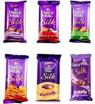 Cadbury Silk  6 Variants  5 x Medium Bars (50 - 60GM)  Chocolate  Dairy ... - $23.00