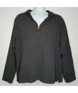 J. Crew Mens Sweater Gray Turtleneck 1/4 Zipper Pullover Cotton Size XL - $17.99