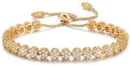 SPILOVE Serend Luxury Gold Plated Adjustable Bracelet With Sparkling Whi... - $50.41