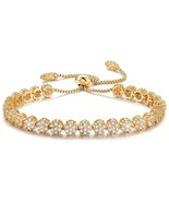 SPILOVE Serend Luxury Gold Plated Adjustable Bracelet With Sparkling Whi... - $50.41
