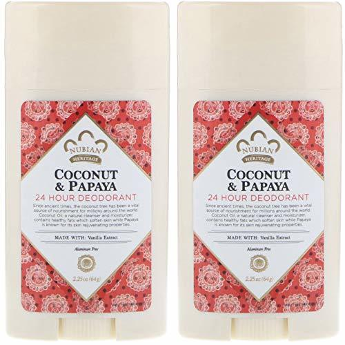 Nubian Heritage 24-Hour Natural Deodorant Coconut & Papaya, With Coconut Oil, Pa - $22.41