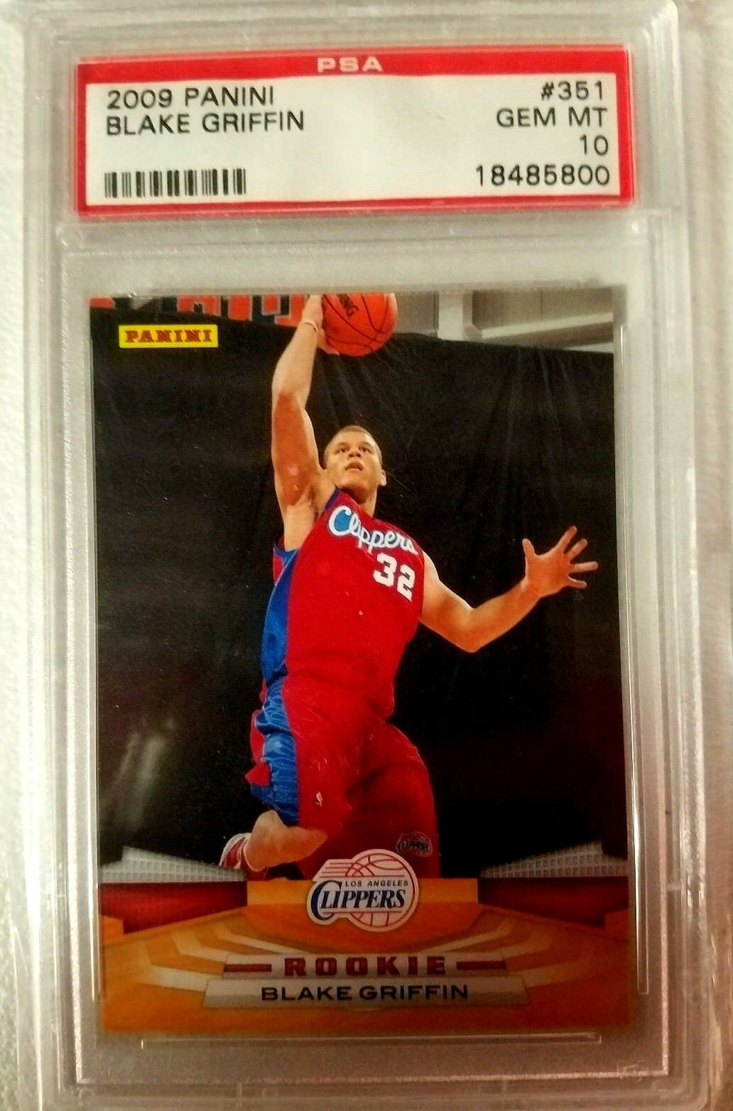Blake Griffin RC 2007 Topps McDonald's All-American RC GEM BGS 9.5-Cippers F RC image 2