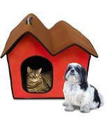 Penn-Plax ZH5 Dog Zipper House with Double Roof, Red - £25.57 GBP