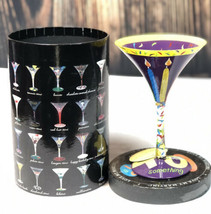 Lolita Love My Martini 40 Something Birthday Hand-Painted 10 oz. Martini... - $16.78