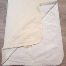 Pottery Barn Kids Stroller baby Blanket Chamois White Cream PBK velour z... - $23.99