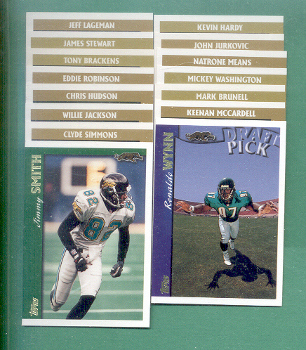 1997 Topps Jacksonville Jaguars Football Team Set